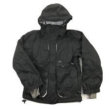DC Shoes Womens Large Exotek Black Full Zip Hooded Ski Snowboard Jacket
