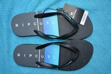 New RIPCURL Logo Surf Thongs Mens Size 10 THONGS Black/Green/GreyTCTD60