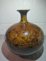 "Mid Century Earth Tones 3 lb Vase 9"" Tall x 7.5"" Wide x 3.25 Base."
