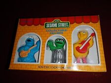 "Sesame Street 3"" Collectible Figures 3 Pack Gift Set Big Bird, Oscar & Cookie"