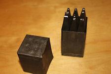 Alte Schlagzahlen 4mm, DIN E, Punze 0 bis 9 in Blechdose