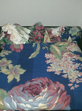 Jc Penney Home Collection Vintage King Rufflrd Pillow Sham Navy Blue Floral