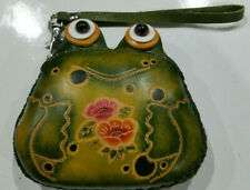 Hand Crafted leather Frog purse/wristlet Souvenir