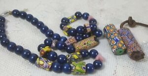 Antique/Vintage Venetian tube African Trade Beads Lot Jewelry c/a 1900s rare