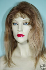 "Full Lace Wig Remi Remy Indian Human Hair 10"" Blonde Mix T-Color #12/613/27"