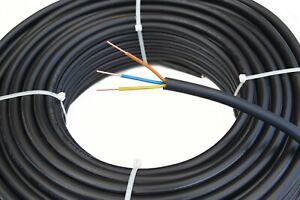 Starkstromkabel NYY-J 3x1,5mm² Kabel   50m Ring, 3 adriges Erdkabel nach DIN VDE