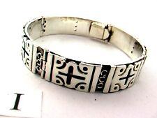 "Men/Women Taxco Mexican 925 Sterling Silver Bangle Bracelet. 59 grams, 18 cm, 7"""