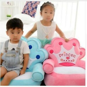 Toddler Baby Children Crown Sofa Chair Seat plush kindergarten kids Birhday gift