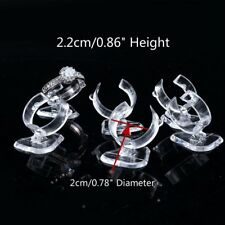 10 Plastic Ring Display Riser Clear Acrylic Retail Jewellery Display Stand Riser
