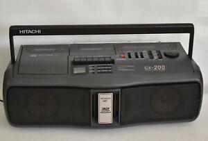Vintage Hitachi CX-200 Radio Cassette CD Player boombox