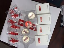 Supreme Week 1 Gift Lot Bouncy Ball Shower Cap Parachute Man Toy Army Paratroopr
