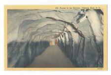 Vintage Postcard Tunnel to the Elevator, Chimney Rock, N.C.