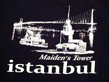 Maiden's Tower Istanbul Turkey Vacation Souvenir Black T-Shirt M