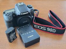 Canon EOS 90d DSLR Camera Body ONLY (+batt/charger, see image, ~3k shutters)