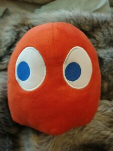 Pacman Red Ghost Blinky Bandai Namco Plush Kids Soft Stuffed 7inches