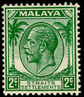 MALAYSIA - Staits Settlements SG261, 2c green, VLH MINT.