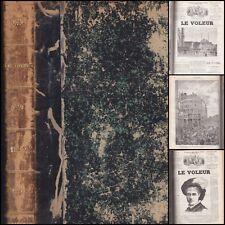 REVUE  LE VOLEUR 51 NUMEROS 1882 MAUPASSANT DAUDET BANVILLE GABORIAU...