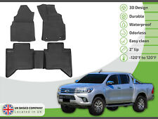 Toyota Hilux Double cab 2016-up Tailored Rubber Set 3D Tailored Heavy Duty Mats