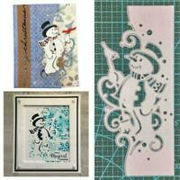 Christmas Snowman Metal Cutting Dies Stencils Scrapbooking Embossing DIY E1L7