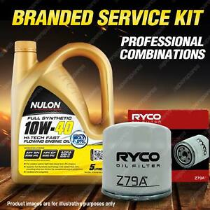 Ryco Oil Filter 5L SYN10W40 Engine Oil Service for Kia Cerato Optima