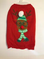 Dog Sweater Rudolph The Red Nose Reindeer Medium In Red