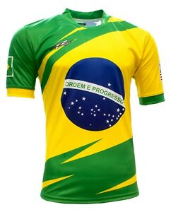 Brasil and USA Men Fan Jersey Color Green