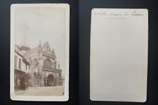 France, basilique Notre Dame de Liesse Vintage albumen print CDV.  Tirage albu