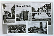 24753 Foto AK Kornwestheim bei Frankfurt 1956 Häuser Straßen