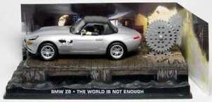 JAMES BOND 007 film model THE WORLD IS NOT ENOUGH BMW Z8 Pierce Brosnan 1:43