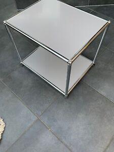 USM Haller /Gestell / Tisch / Rahmen / mit  Tablare in RAL 7036 Platingrau