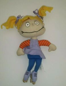 """1997 RARE Applause Nickelodeon Rugrats Angelica Toy Plush 8"""""""