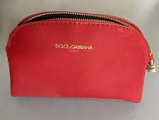 DOLCE & GABBANA Makeup Cosmetic Zipper Pouch Bag RED Lipstick Charm