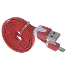 Hot 1M/2M/3M Flat Noodle Micro USB Charger Sync Data Cable For Android Samsung