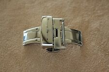 STAINLESS STEEL DEPLOYMENT BUCKLE CLASP FOR 18MM GENTS & LADIES WATCH BAND STRAP