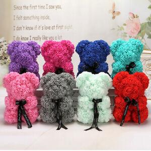 25cm Birthday Anniversary Valentine's Gift Rose Flowers Teddy Bears Couple Love