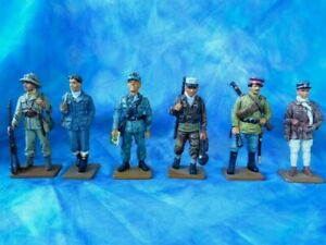 6 soldats de plomb Delprado  Deux guerres mondiales