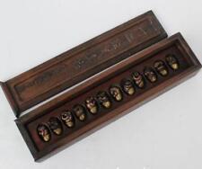 Zodiac handmade miniature copper, presented rosewood box