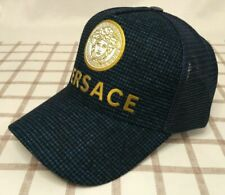 NWT Versace Baseball Hat Adjustable Strap Outdoor Cap Blue