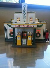 Dept 56 Snow Village Holly Brothers Garage Perfect Condition