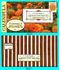 Calendula - Vintage Seed Packets  First Day Cover with Color Cancel