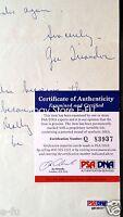 GUS TRIANDOS Signed 1960 Letter Mission High San Francisco CA Autograph PSA/DNA
