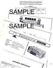 1967 MERCURY COMET COUGAR 67 MODEL M7TB FM STEREO ADAPTER SERVICE MANUAL AR47-6
