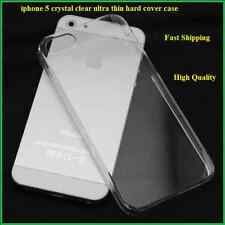 HARD CASE COVER iPhone 5 iPhone 5G CRYSTAL CLEAR ULTRA THIN TRANSPARENT FREE S&H