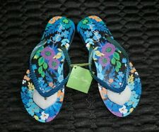 Vera Bradley Midnight Blues Flip Flops Thongs Sandals NWT Medium 7- 8  MSRP $32