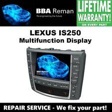Lexus IS250 Radio Navigation GPS Multifunction Display Repair