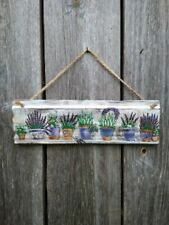Wood signs French Country decor Lavender Rustic Home Decor Handmade Decoupage