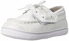 Sperry top sider boat shoes - Size 2 Girls White / Silver Brand New PG53497