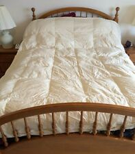 Coming Home Lands End  Cream Goose Down Comforter 88X96 Queen -  Pre-owned