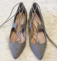 "Charles By Charles David ""Winnie"" Pumps Size 7 Women's Gray Ghillie Lace Up Heel"