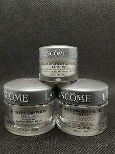 Set: Lancome High Resolution Refill 3x. Day, Night(.5oz each) & eye cream(.2oz)